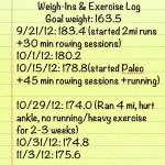 Exercise Log